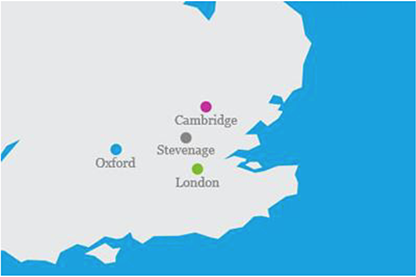Location of the GMP manufacturing centre